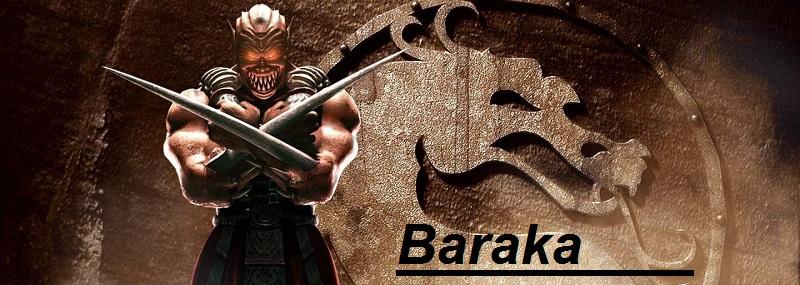 Baraka figuras de Accion Mortal Combat