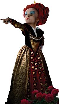 Figura de la reina de corazones en Alice de Tim Burton