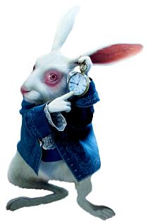 Figura del conejo en Alice de Tim Burton