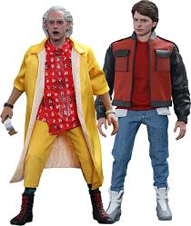 Figuras de Doc y Marty McFly