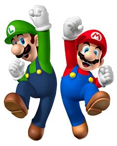 Figuras de Mario y Luigi