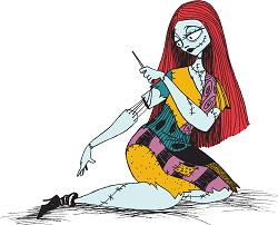 Figura de Sally en Pesadilla antes de navidad