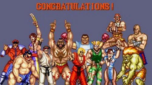 Pantalla congratulation Street fighter II