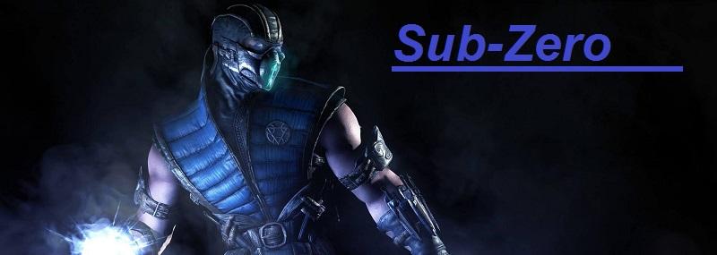 Sub-Zero figuras de Accion Mortal Combat