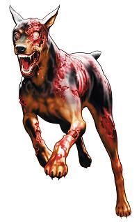 perro zombie de resident evil