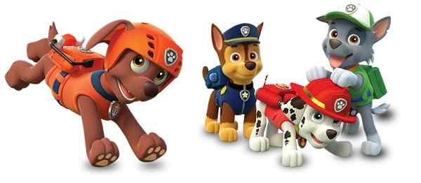 Figuras de dibujos animados patrulla canina